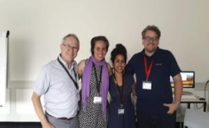 From left to right: Rob Corcoran, Geneviéve Dick, Firyal Mohamed and Matthew Freeman